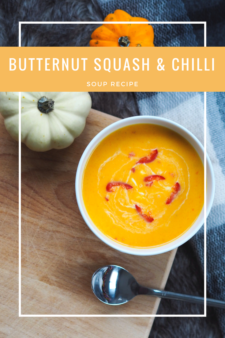 Butternut squash and chilli soup _pinterest