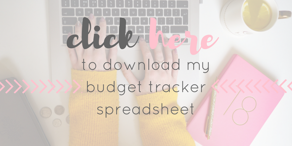 Budget Tracker, spending spreadsheet