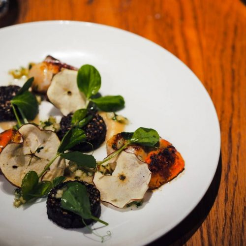 The Swan Salford, The Swan Salford review, scallops and black pudding