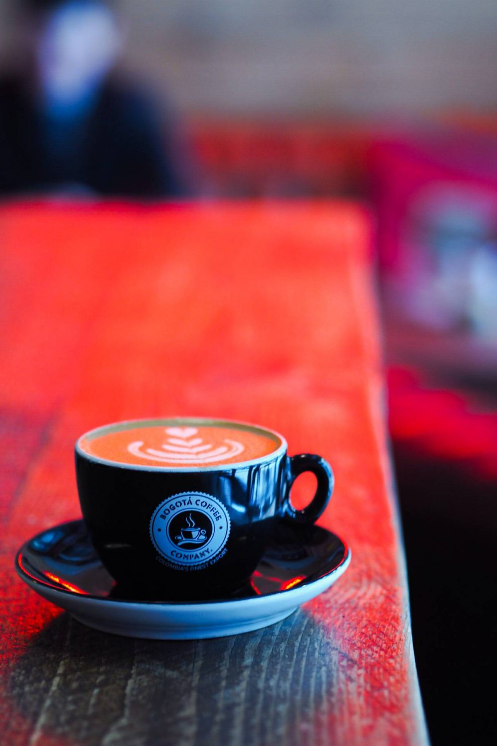 A cup of coffee at Bogota coffee co -  - Eat Out to Help out in Milton Keynes.