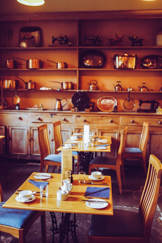 The mansion kitchen at Nanteos Mansion