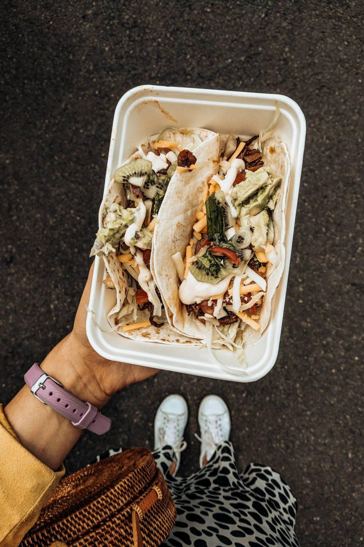 Halloumi tacos from Baja cantina at Towcester Food Festival