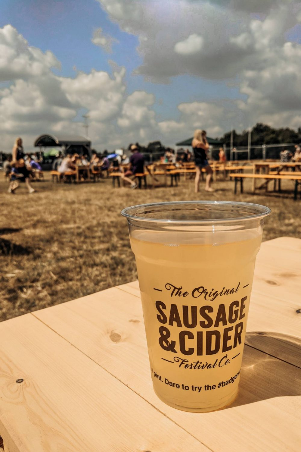 Mango cider at the sausage and cider festival