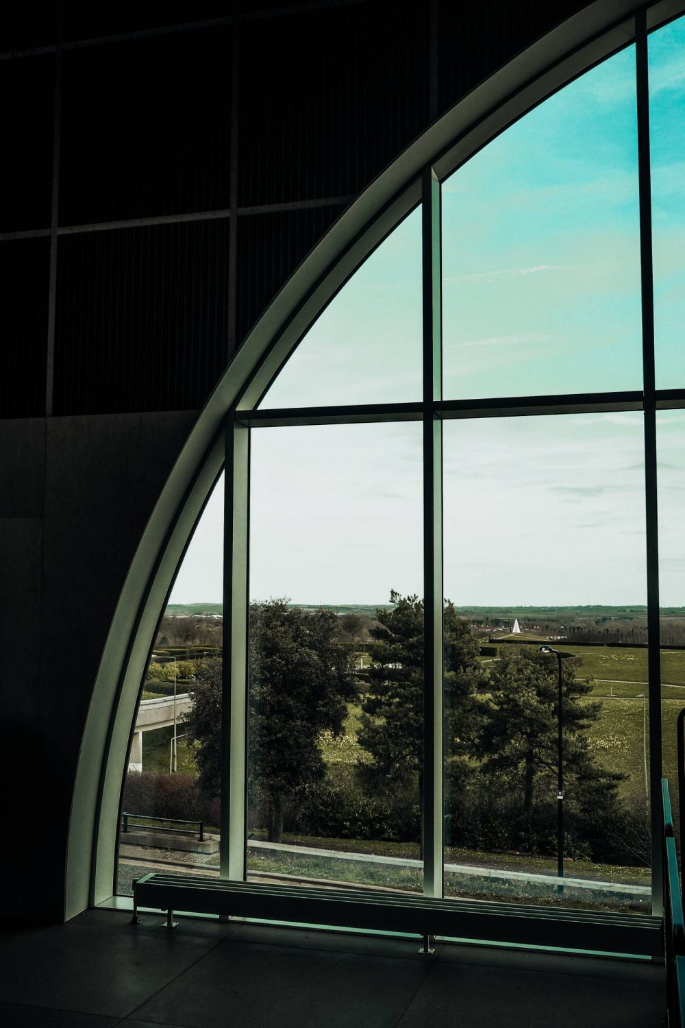 The Sky Room at MK Gallery Cafe with a view over Campbell Park
