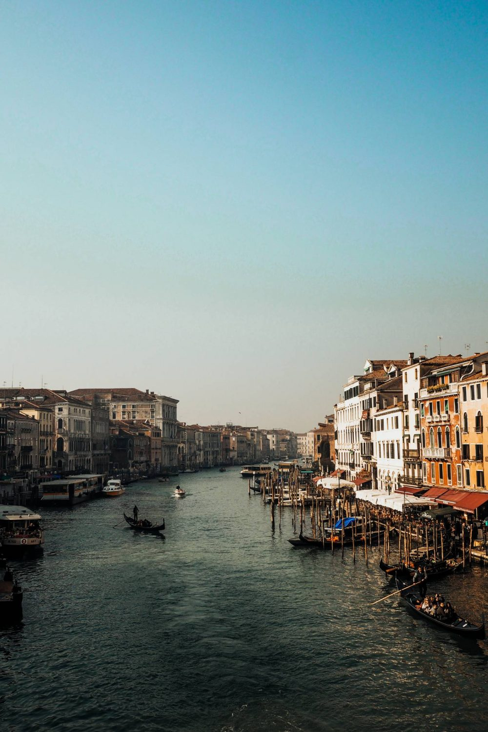 View from the Rialto bridge over the Grand Canal