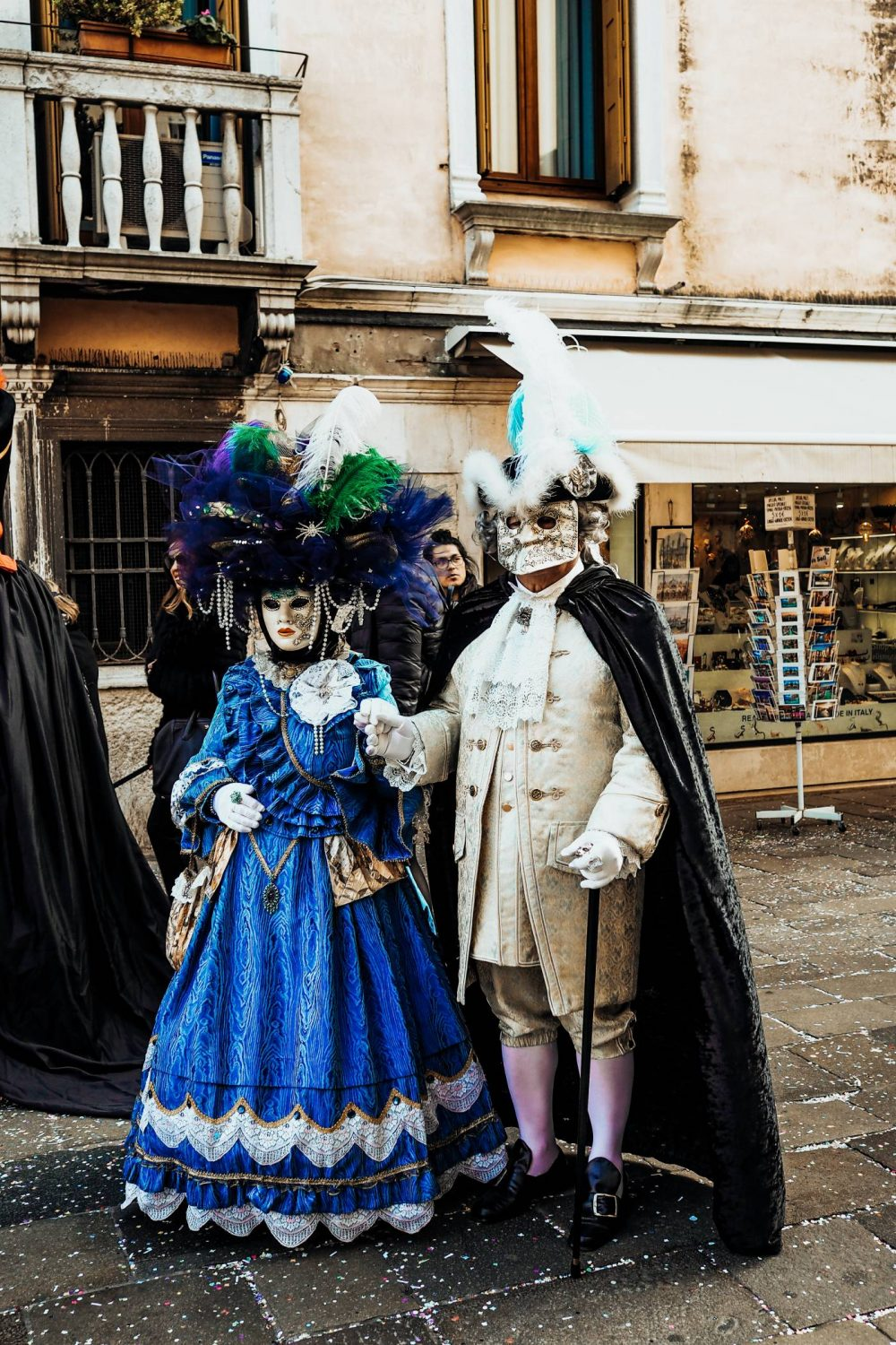 Venetian Cosutmes in Cannaregeio at Carnival Celebrations