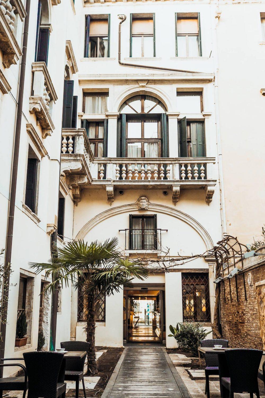 Front door of Hotel Palazzo Giovanelli, Venice