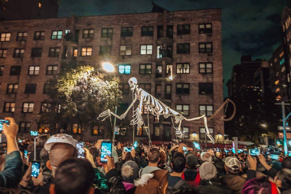 Monkey Skeleton in the Greenwich Village Halloween Parad