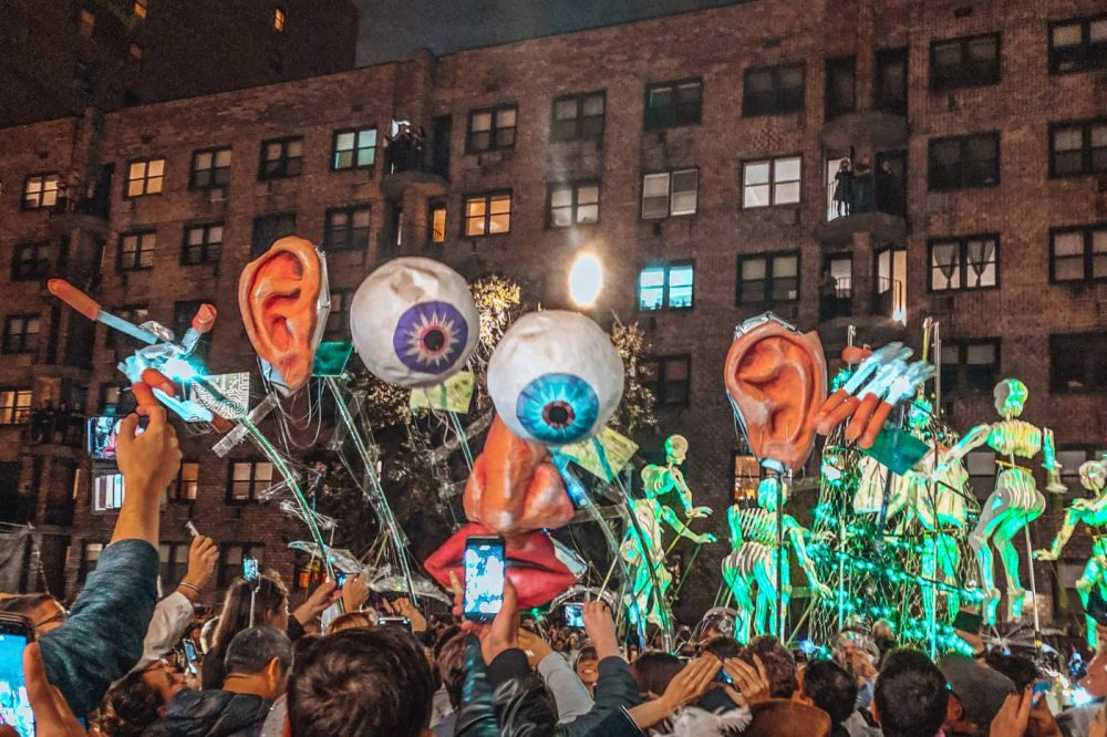 Eye balls and ears in the Greenwich Village Halloween parade