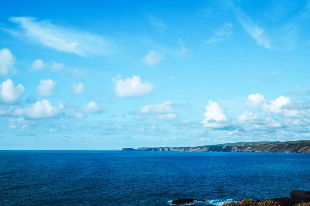 View over Port Isaac bay from Restaurant Nathan Outlaw