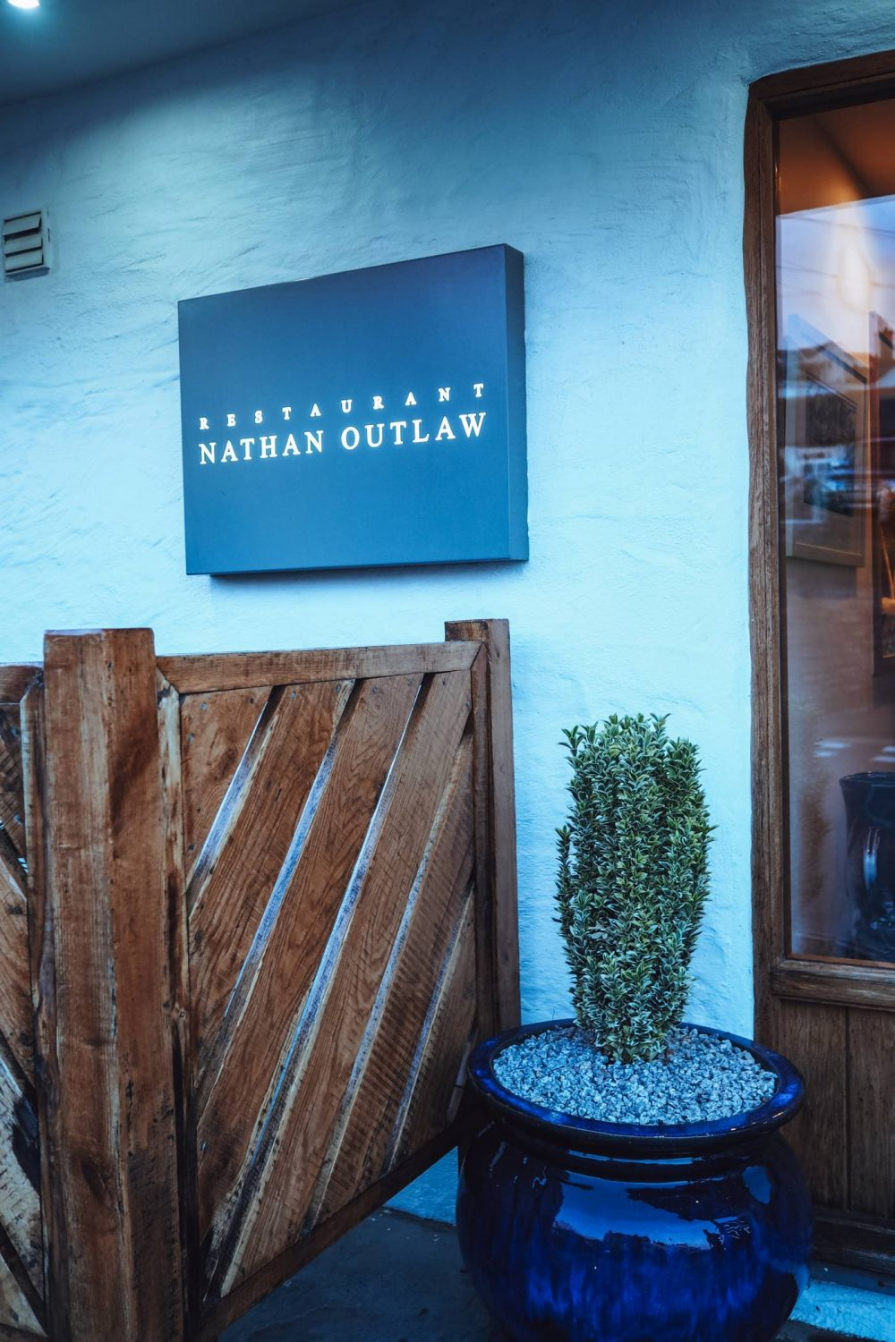 Front door of Restaurant Nathan Outlaw
