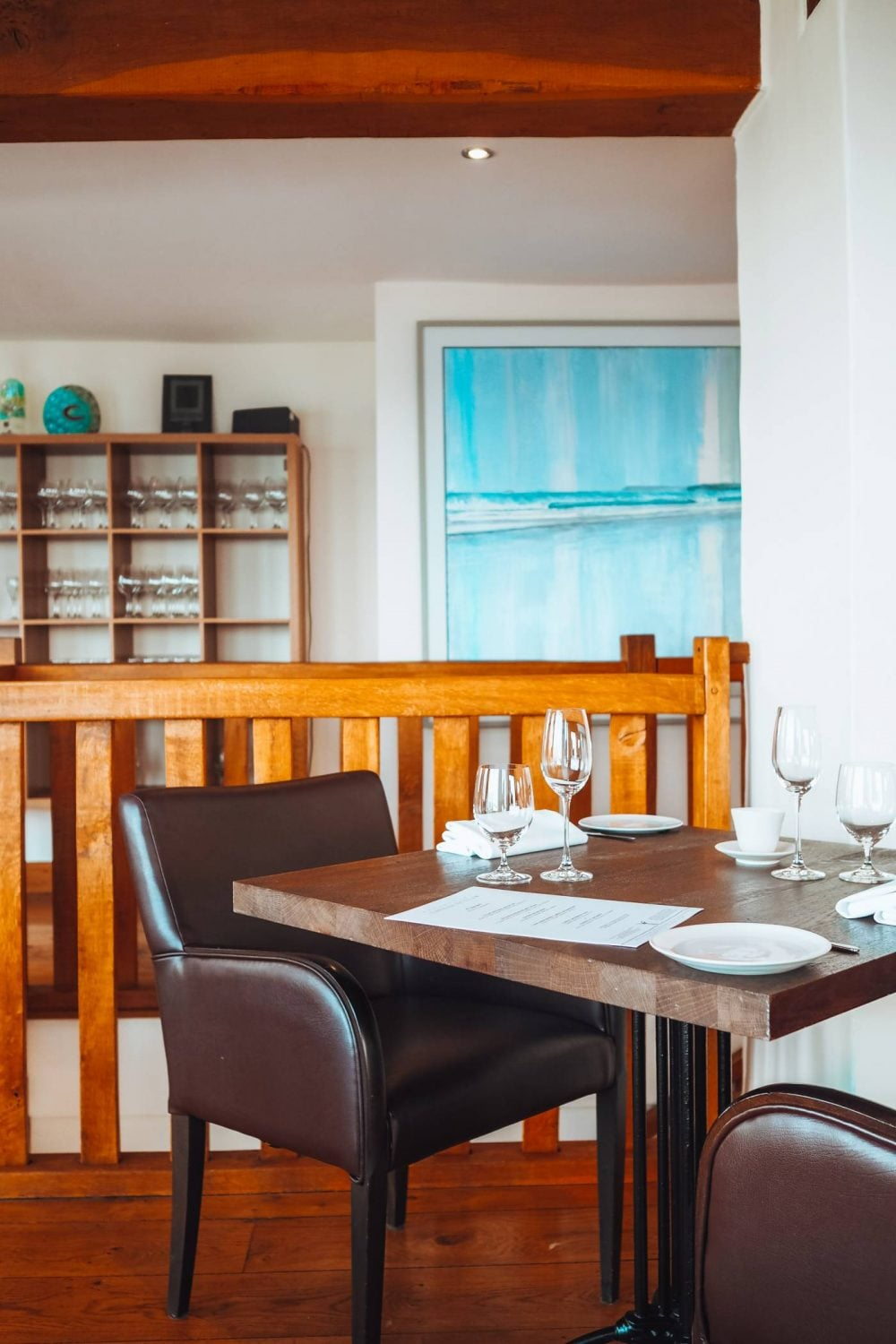 Wooden, Modern interior at Restaurant Nathan Outlaw