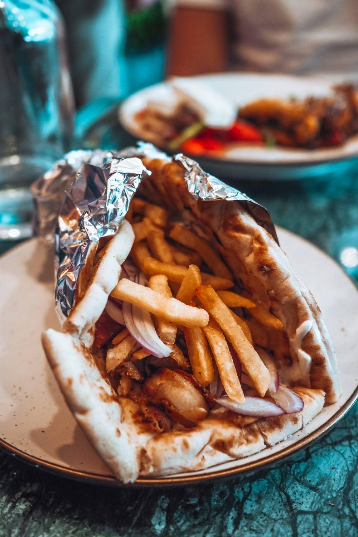 Chicken Gyros at Greek Affaire