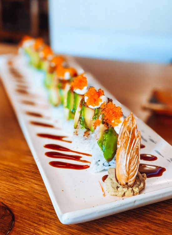 Dragonfly roll at Legend One Sushi Bar