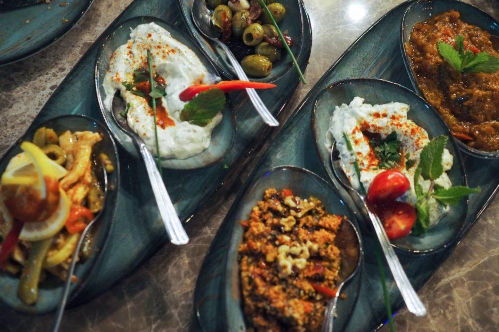 Cold Mezze Platter at Deroka Restaurant Milton Keynes