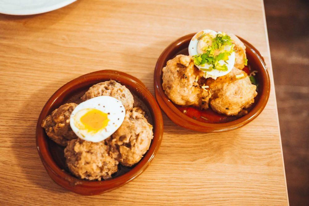 Chicken Kofta and aloo kofta
