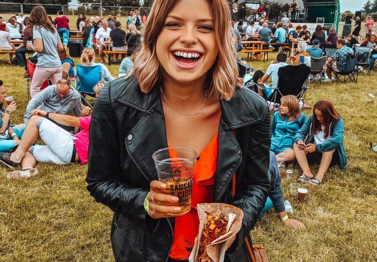 Sophie at the Sausage & Cider Festival in Milton Keynes