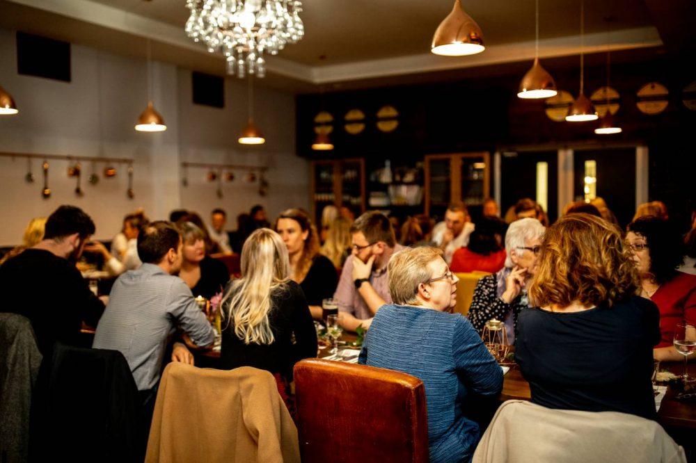 Guests at Sophie's Supper Club at The Brasserie at MK College
