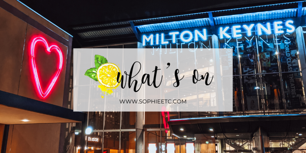 A photo of MK Gallery and Milton Keynes Theatre at Night with a text overlay that reads 'What's On'.