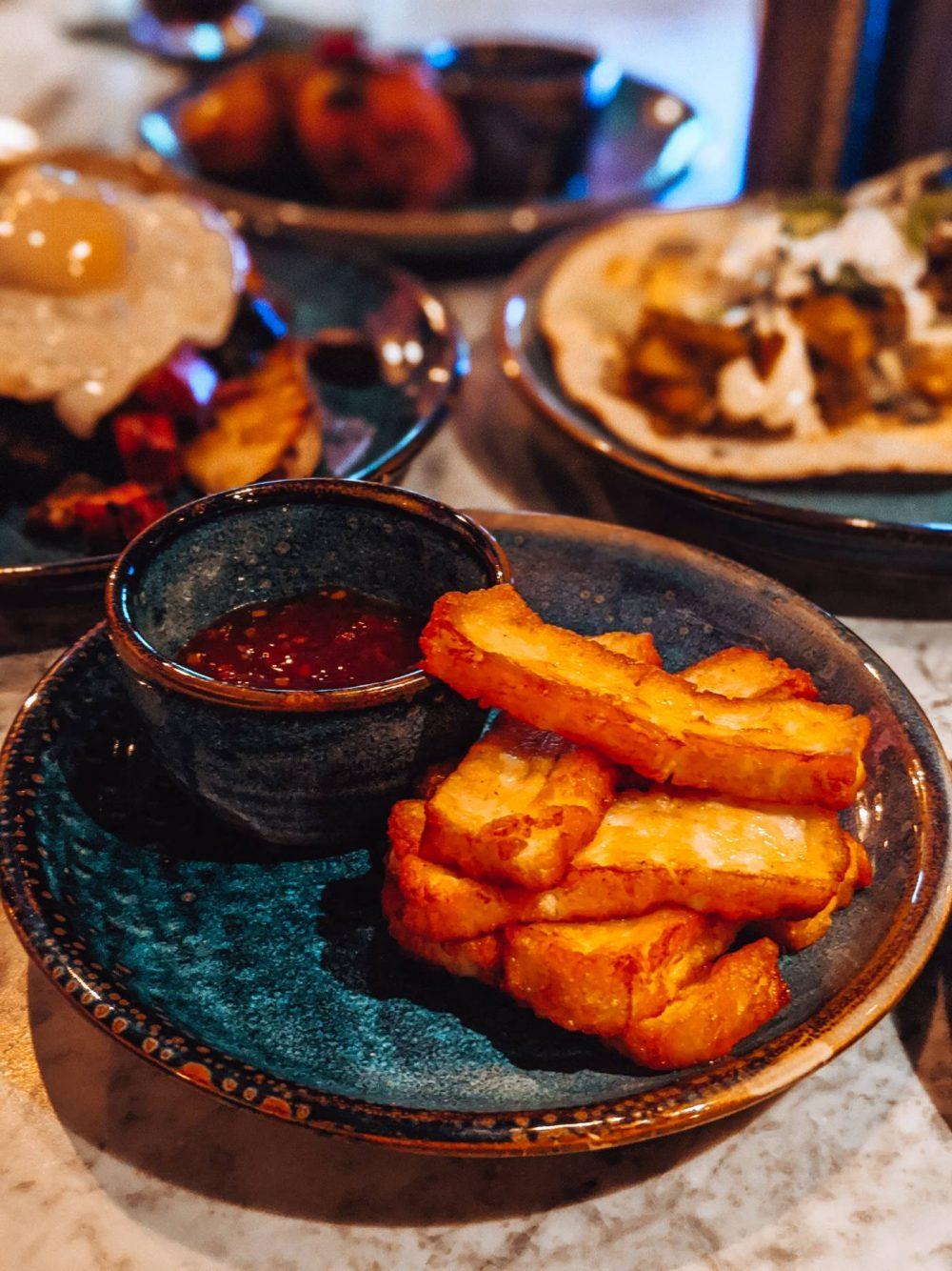 Halloumi fries at The Blossom Room Milton Keynes