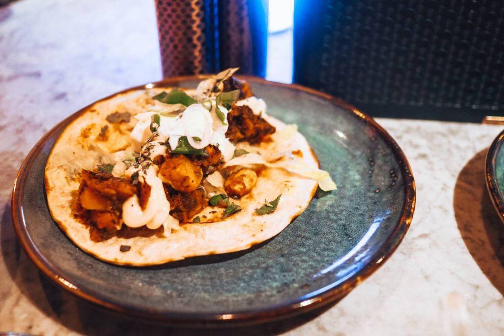 Mauritian potato and butterbean curry