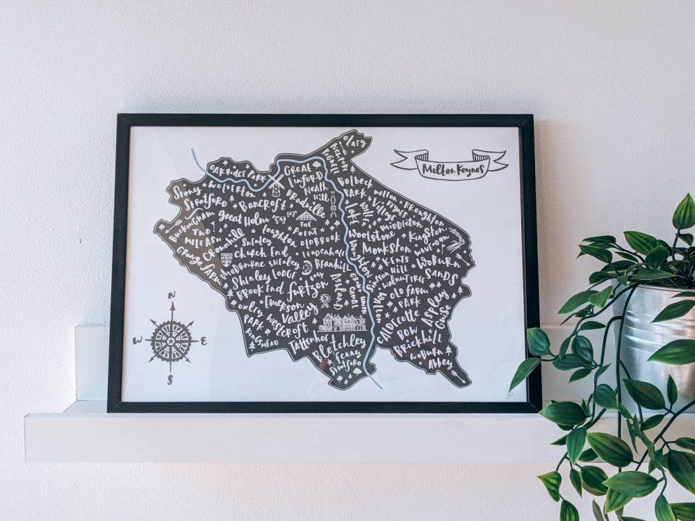 Jen Roffe Milton Keynes map print